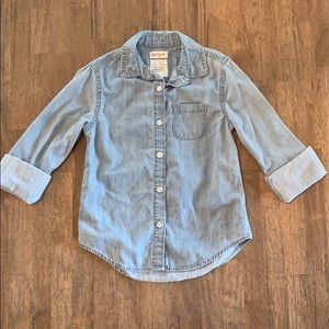 🍭3/$23 Denim button up shirt